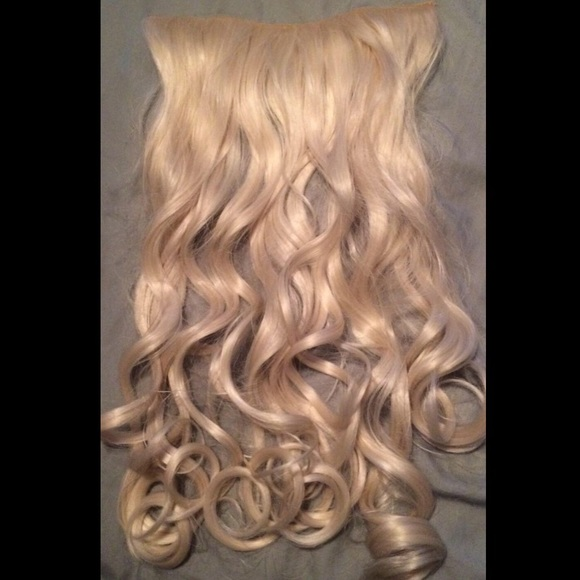 clip in synthetic blonde hair extensions curly 8be8792412